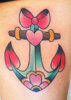 Girly Anchor Tattoo by Toby