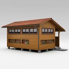 3D Model House Apiary - 3D Model