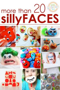 """So going to do videos of the Grand Girls with the upside down face, googly eyes and different """"hair""""!  In Celebration of Smiles - Silly Activities for Kids of All Ages - Kids Activities Blog"""
