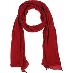 Isabel Benenato Scarf (170 CAD) ❤ liked on Polyvore featuring accessories, scarves, brick red, isabel benenato, merino wool shawl, merino scarves, lightweight scarves and lightweight shawl