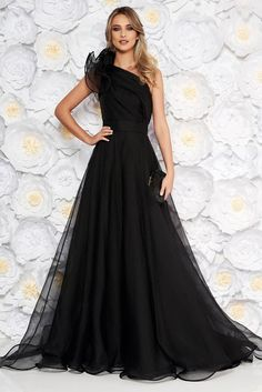 Corset, One Shoulder, Satin, Formal Dresses, Nasa, Floral, Model, Fashion, Tulle