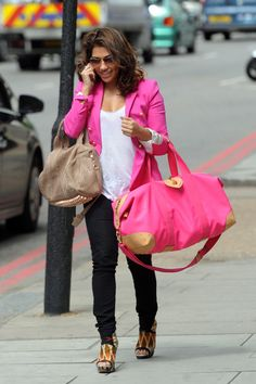Another fabulous pink blazer - Vanessa White in London