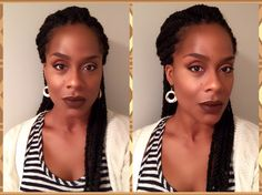 I think I am finally used to my new braids.  Plus they stopped hurting enough for me to put them back....lol   Decided to go with an Around The Way Girl Nubian Glow look today.    #maeuplover4life #latestlook #aroundthawaygirl #chocolatelips #anastasiabeverlyhills #nyxcosmetics #maccosmetics #blackopalcosmetics #maybeline #hikari #urbandecay #stilacosmetics #doseofcolors