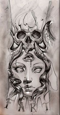 tattoo sketch by bhbettie on @DeviantArt