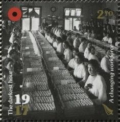 Stamp: A Changing Workforce (New Zealand) (100th Anniv. of WWI: 1917. The Darkest Hour.) Mi:NZ 3448,Sg:NZ 3888