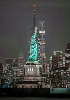 Liberty Enlightening the World, Ellis Island, New York City Harbor, New York, USA.