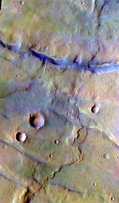 THEMIS false-color image of Thaumasia Planum on Mars Mars Planet, Red Planet, Hubble Space, Space And Astronomy, Sistema Solar, Physics Facts, Mars Pictures, Mars Surface, Astronomy Pictures