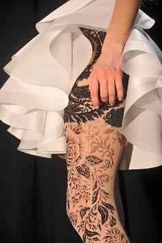 Incredible beaded nylons - beautiful!  #nylons #tights #beaded #incredible