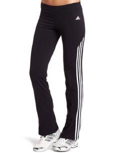 adidas Women's Cotton Stretch Pant, Black/White, Large adidas. $24.99