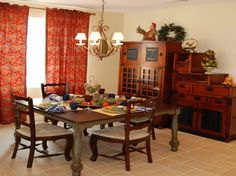 Dining Room Table Decoration with cabinet