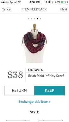 Briah Plaid Infinity Scarf by Octavia. I love Stitch Fix! A personalized styling service and it's amazing!! Simply fill out a style profile with sizing and preferences. Then your very own stylist selects 5 pieces to send to you to try out at home. Keep what you love and return what you don't. Only a $20 fee which is also applied to anything you keep. Plus, if you keep all 5 pieces you get 25% off! Free shipping both ways. Schedule your first fix using the link below! #stitchfix @stitchfix…
