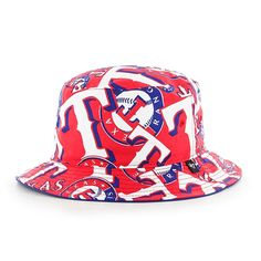 timeless design 7b7c0 b08b1 Texas Rangers 47 Brand Bravado Bucket Hat