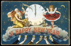 Happy New Years and bonne année to all of you, on this, the last day before we ring in the final year of the Mayan calendar. All images . Vintage Happy New Year, Happy New Year 2014, Happy New Years Eve, Happy New Year Cards, New Year Wishes, New Year Greetings, Happy 2017, Vintage Christmas Cards, Vintage Holiday