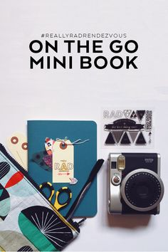 Making a mini book on the go + what supplies to pack with you when you travel.