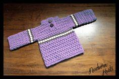 CROCHET PATTERN For Baby Boy or Girls Striped by NewbornKnots, $4.50