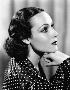 Dolores del Rio August 3, 1905 – April 11, 1983), was a Mexican film, theater and television actress. She was a Hollywood star in the 1920s and 1930s, and was one of the most important female figures of the Golden Age of Mexican cinema in the 1940s and 1950s.From 1930 to 1940 Dolores was married to the Art Designer at MGM, Cedric Gibbons. Together they organized famous Sunday lunches at his home.