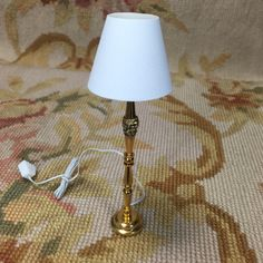 """Pat Tyler Artist embellished OOAK Floor Lamp with shade, measures approximately 3/4"""" Wide at base, 4 3/4"""" High."""