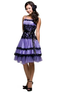 purple lace dress. so pretty! Wish I had money and occasions to wear all these clothes too.