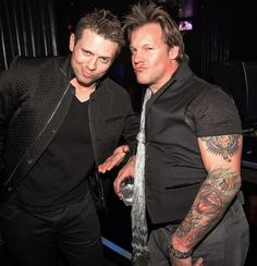 "WWE Superstars Chris Jericho and Michael ""The Miz"" Mizanin party at Body English @ Hard Rock Hotel & Casino on Jan 17, 2015 (Photo: © Chase Stevens/ Kabik Photo Group /www.erikkabik.com)"