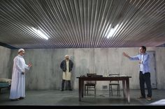 The Invisible Hand. Scenic design by Riccardo Hernandez.