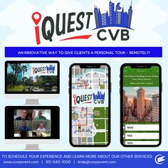 iQuest CVB: an innovative way to give clients a personal tour - remotely! Remote, Innovation, Tours, Learning, Studying, Teaching, Pilot, Onderwijs