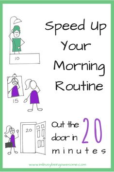 morning routine, fast, time saving, time management, organize, organized, quick, easy, simple, minimal, minimalist, easy, 20 minutes,