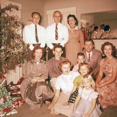 """Vintage Christmas---back when we used to get all """"gussied up"""" ."""