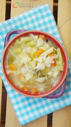 Moja smaczna kuchnia: Zupa jarzynowa z brukselką, fasolką szparagową i k...