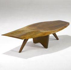 George Nakashima; Walnut and Rosewood Coffee Table, c1950.