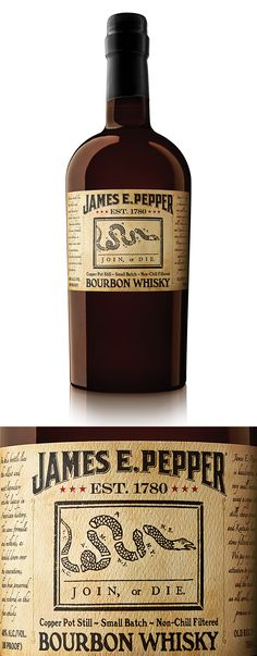 James E. Pepper, I really want a couple. such an amazing label and classic bottle