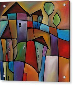 Somewhere Else - Abstract Pop Art By Fidostudio Acrylic Print by Tom Fedro - Fidostudio