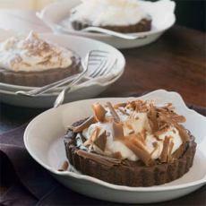 Chocolate-Banana Cream Tartlets Recipe | Yummly