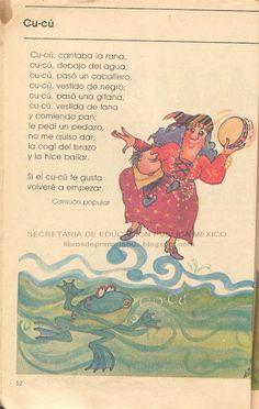Cucú cantaba la rana... libros de los 80's