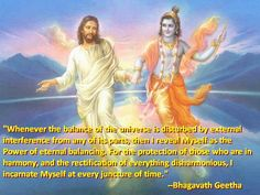What if Christ met Krishna? Christ and Krishna are two of the greatest teachers of love that the world has ever known. Hare Krishna, Krishna Art, Krishna Images, Religion, Gita Quotes, A Course In Miracles, Bhagavad Gita, Hindu Deities, God Pictures