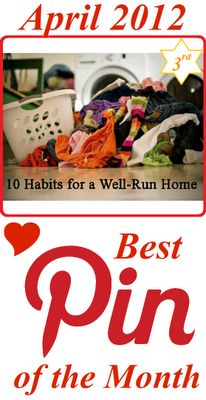 10 Habits for a Well-Run Home -   I think we can all use some help with organising our home.