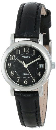 """Timex Women's T2N335 """"Elevated Classics"""" Black Leather Strap Watch - http://www.specialdaysgift.com/timex-womens-t2n335-elevated-classics-black-leather-strap-watch/"""