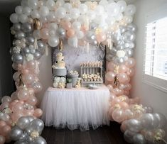 68 Best Ideas For Baby Shower Elephant Balloon Birthday Parties Baby Shower Brunch, Baby Shower Winter, Shower Party, Baby Shower Parties, Baby Shower Themes, Shower Ideas, Balloon Garland, Balloon Decorations, Birthday Decorations