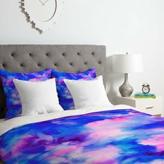 Bedroom Decor For Teen Girls, Teen Room Decor, Room Ideas Bedroom, Bedroom Colors, Dream Bedroom, Bed Room, Tie Dye Bedding, Blue Bedding, Bedding Sets