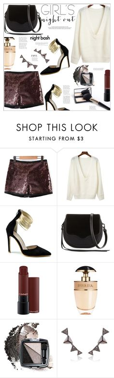 """""""Girl's night Out"""" by mycherryblossom on Polyvore featuring Rebecca Minkoff, Louis Vuitton, Prada and Avon"""