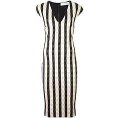 Victoria Beckham fitted gingham dress (4.235 BRL) ❤ liked on Polyvore featuring dresses, black, gingham print dress, fitted dresses, victoria beckham, gingham dress and victoria beckham dresses