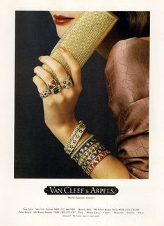 MyFDB - Van Cleef Vintage Style, Vintage Fashion, Jewelry Ads, Van Cleef Arpels, Luxury Branding, Bangles, Rings, Bangle Bracelets, Bracelets