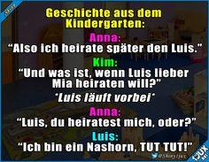 Im Kindergarten wird's langweilig. :) #Kinder #Kinderliebe #lustig #Geschichte #witzig #toll
