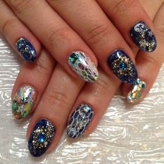 Donne's 'Mystic' #gel #nailart handpainted by the amazingly talented @Ayako Hirano (at Hey Nice Nails)
