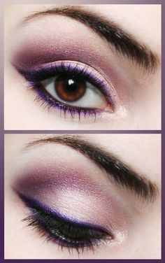 I've always heard that purple eyeliner is good for brown eyes. I love this! Sometime I'm going to try this