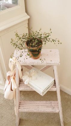 Shabby Ribbon Roses And Spring - White Lace Cottage
