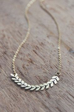 boho dainty chevron necklace