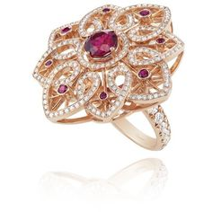 Chopard Unveils 2014 Red Carpet Collection (96 RON) ❤ liked on Polyvore featuring rings