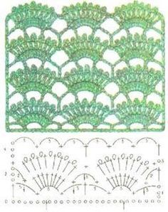 free crochet stitch - might be nice to overlay on a blouse or for straps Picot Crochet, Crochet Stitches Chart, Crochet Video, Crochet Diy, Crochet Motifs, Crochet Borders, Crochet Diagram, Knitting Stitches, Crochet Patterns