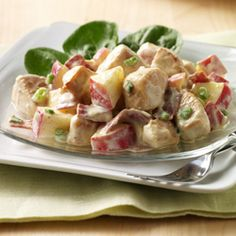chicken apple bacon salad  (I could make into a wrap for Dan's lunch & serve on spinach for mine!)