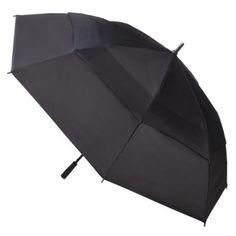 Totes totes Double Canopy Golf Stick Umbrella - Black